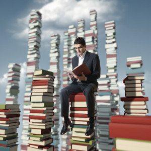 Man on a books