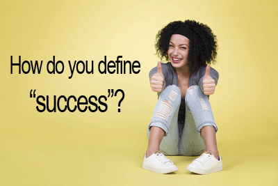 How do you define success for your book?